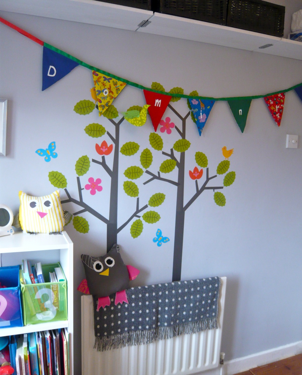 Wall decals babycribz wall sticker wallcandy arts seasons tree rug foxford baby rug bunting handmade by a friend for a present amipublicfo Image collections